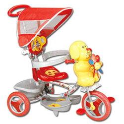 《寶貝樂》 風車狗兒童遊戲腳踏車/手推車-紅(BT0015)