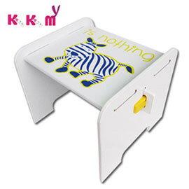【kikimmy】時尚歐風斑馬椅-無椅背(BKC01)