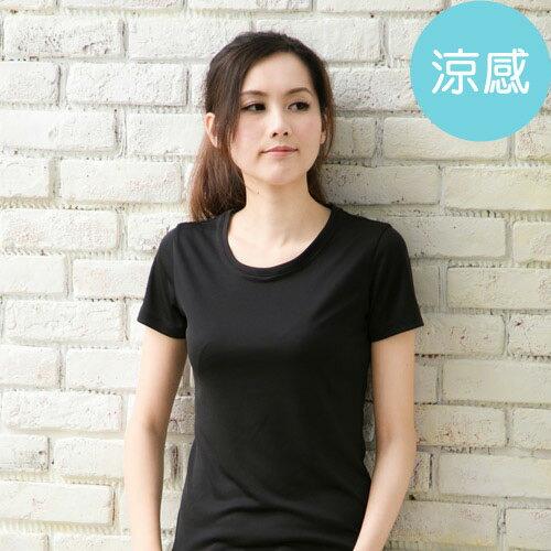 ROUAN柔安 製冰涼衣-短袖圓領T恤 黑  MA0189N