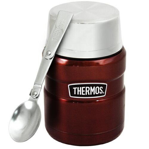 THERMOS膳魔師 不鏽鋼真空保溫杯瓶470ml-咖啡紅CP6【SK3000】(MF0121K) - 限時優惠好康折扣