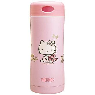 THERMOS膳魔師 Hello Kitty雙層真空保溫杯瓶400ml-粉色PK【JCG-400-PK】(MF0152P)