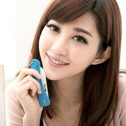 JoyLife 絢彩輕巧陶瓷摺疊刀水果刀-馬卡龍藍(MF0227B)