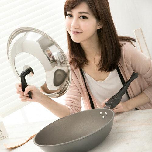 清水 星鑽奈米陶瓷不沾平炒鍋組合蓋33CM(MF0238C)