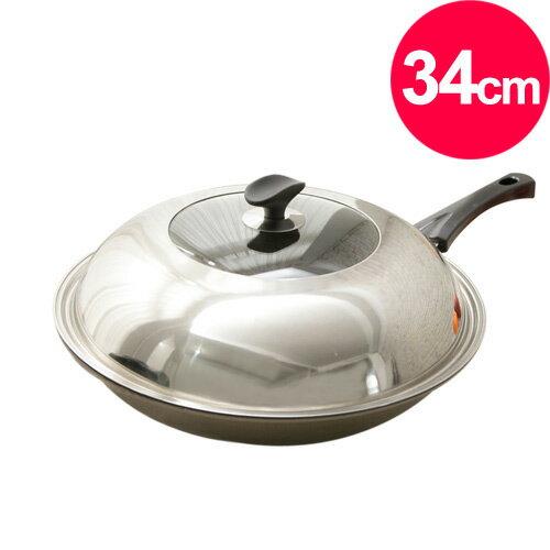 清水 星鑽奈米陶瓷不沾炒鍋34CM(單把)(MF0299A)