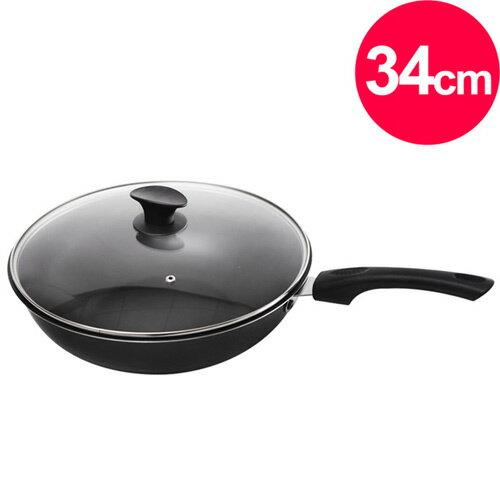 清水 御廚台灣製不沾炒鍋34cm-專利鍋蓋頭(MF0313S)
