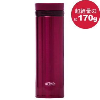 THERMOS 膳魔師 極輕量不鏽鋼真空保溫杯350ml-酒紅色【JNO-350】(MF0317SR)