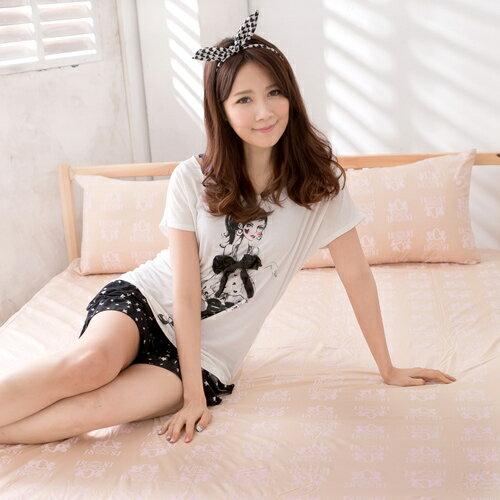 美國NINO1881 MIT台灣製 單人二件式床包組-黃(MG0121Y)