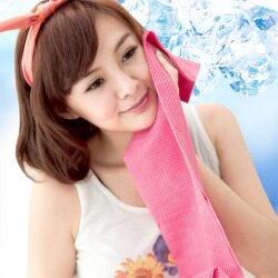 CooFeel 瞬間涼感多用途冰涼巾領巾(大)-粉色(MI0242P)