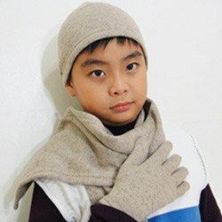 【CoFeel酷咖絨】咖啡混紡兒童帥氣保暖帽-咖啡色(MJ0474K)