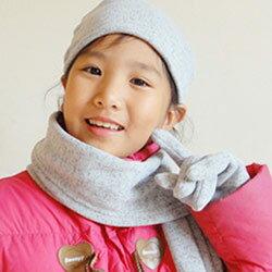 CoFeel酷咖絨 咖啡混紡兒童時尚保暖圍巾-灰色/咖啡色(MJ0475)