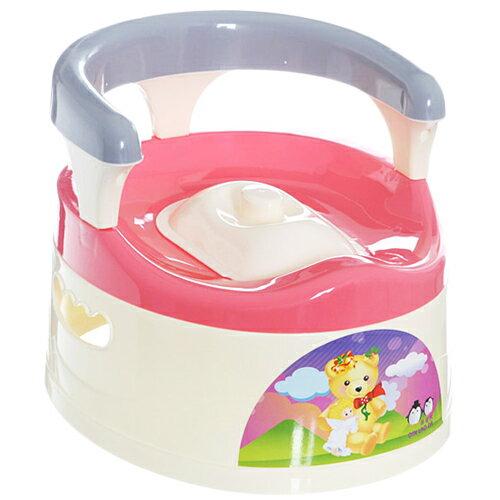 貝比 抽屜式附椅背幼兒學便器-粉色(MJ0515P)