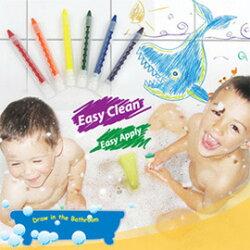 【樂兒學】可擦拭水性環保6色浴室蠟筆-台灣製造(ML0142)