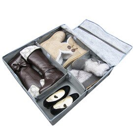 【SoEasy】竹炭6格鞋靴整理箱50L-可自由分隔(MP0080)