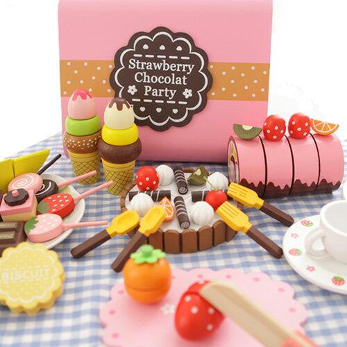 樂兒學 下午茶蛋糕切切樂木製學習積木(MT0453)