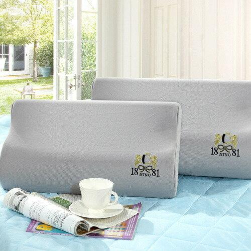美國NINO1881台灣製3M吸濕排汗表布記憶綿枕2入【MG0115】(SG0018)