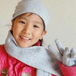 【CoFeel酷咖絨】咖啡混紡兒童時尚保暖帽-灰色(MJ0474H)