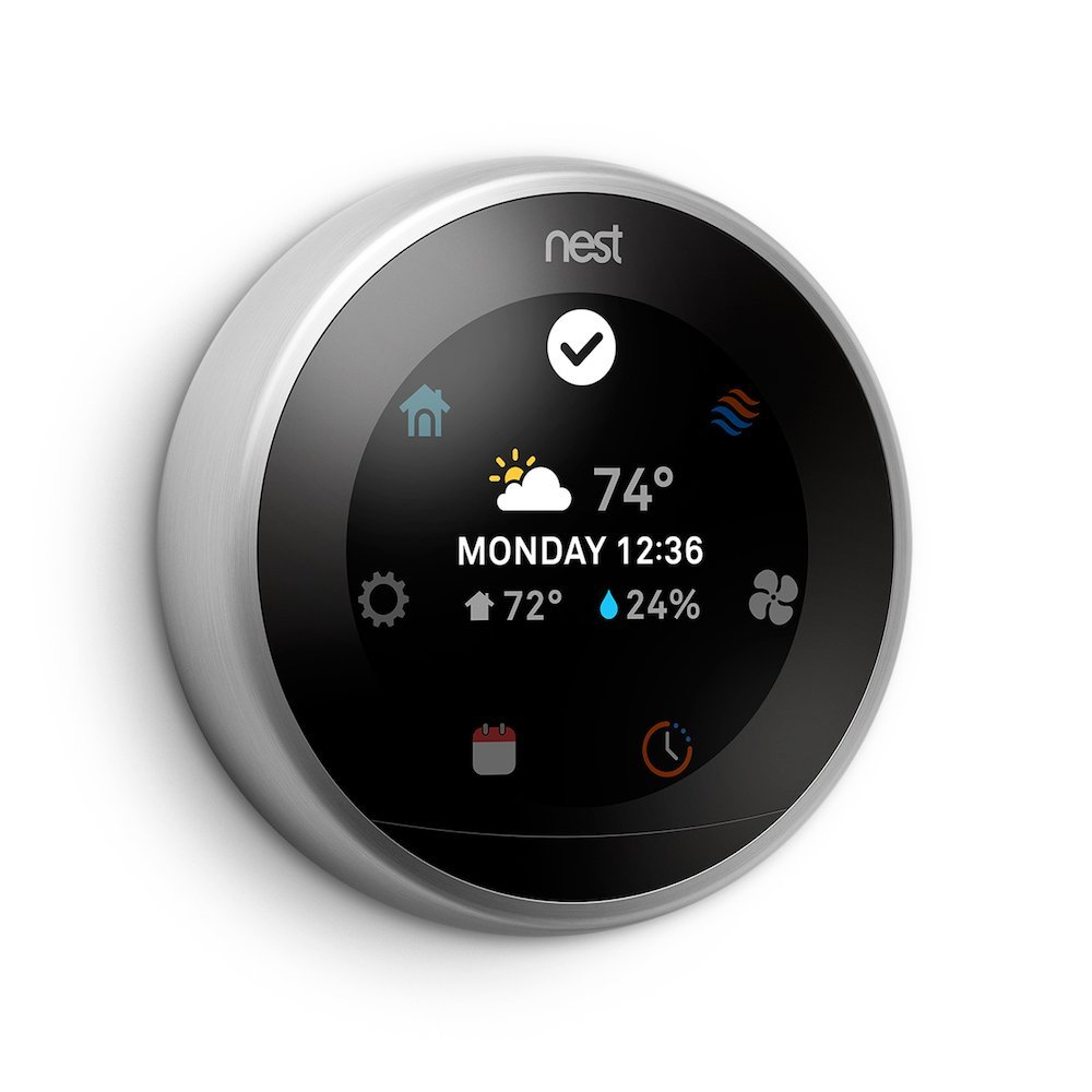 Nest Learning Thermostat 3rd Generation, Stainless Steel, Works with Amazon Alexa 1