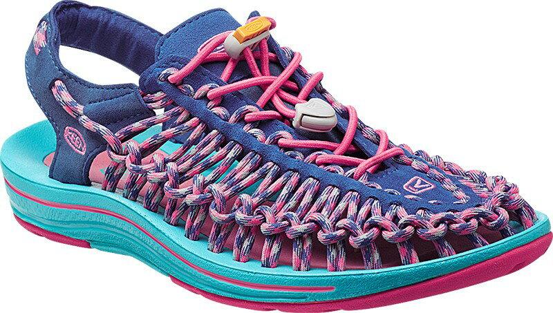 [ KEEN ] 涼鞋/運動涼鞋/拖鞋/繩編涼鞋 UNEEK 女 1014720 藍粉紅/台北山水