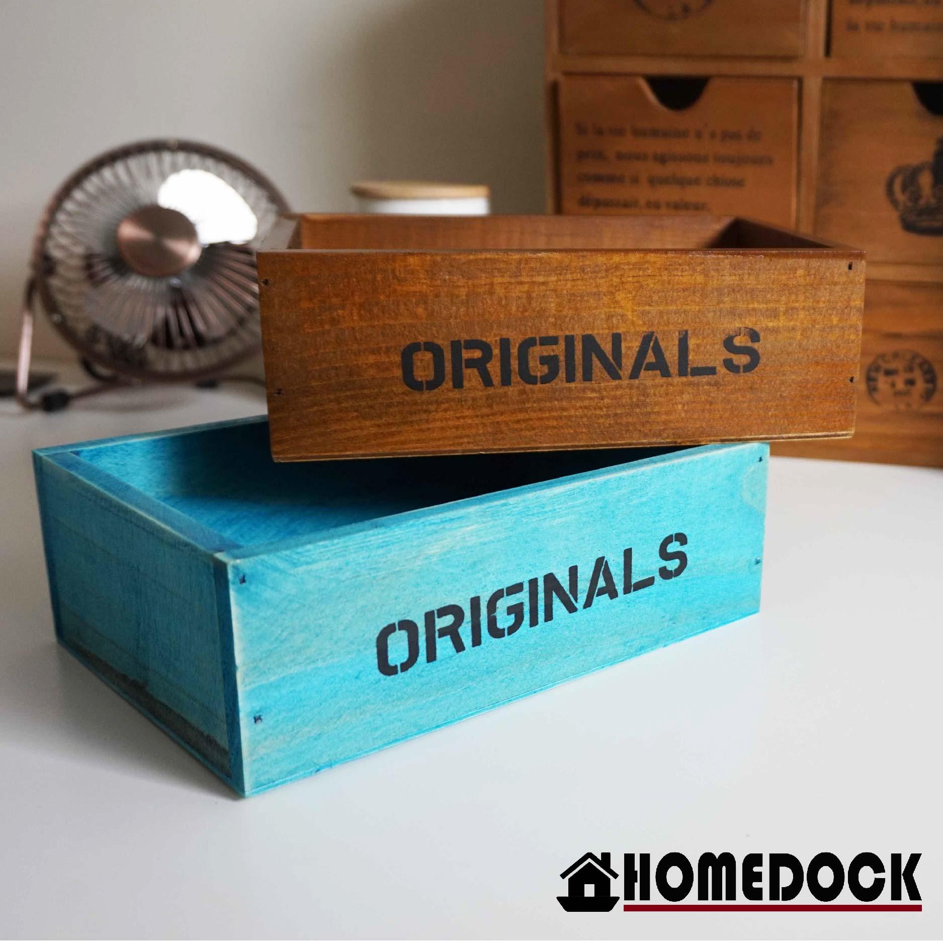 HOMEDOCK-原木質感桌面收納盒 /筆筒/置物盒/Zakka/雜貨/原木製/層格櫃/文具筒/雙層