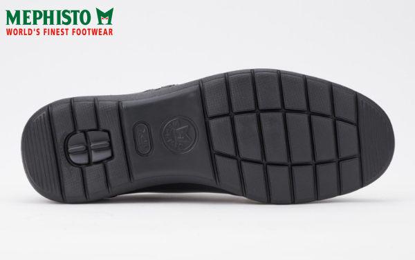 【全店點數15倍送】Mephisto 法國工藝綁帶皮革休閒鞋 黑 5