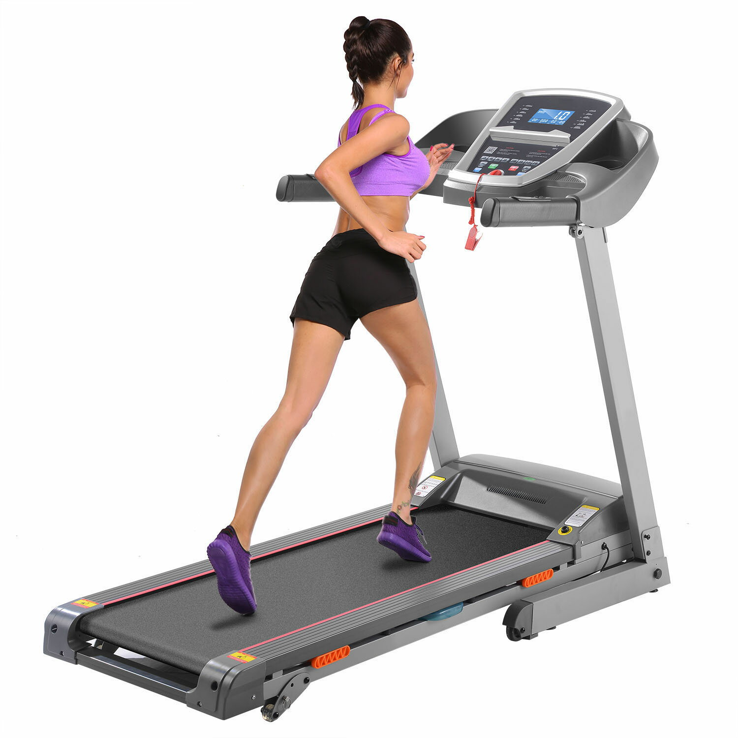 Electric Treadmill Exercise Equipment Machine Running Training Fitness Gym Home 0