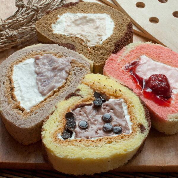 山田村一布蕾捲(8款任選4入)免運組合口味:雙層芋泥、提拉米蘇、香蕉巧克、雙餡草莓、可可雞蛋、香草巧克、焦糖瑪奇朵、抹茶蜂蜜,請把選擇的口味填寫在結帳區的備註欄喔!