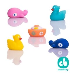 【美國 Creative Baby】Spuddies 水上樂園噴水洗澡玩具(5入一組)