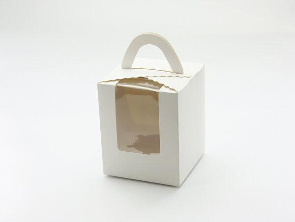 外帶盒、包裝盒、手提盒單格精緻手提盒C-MS-1-D(白色)5pcs附底托