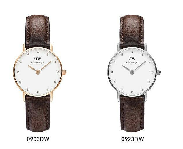 瑞典正品代購 Daniel Wellington 0923DW 銀 玫瑰金  真皮 錶帶 男女錶 手錶腕錶 26MM 1