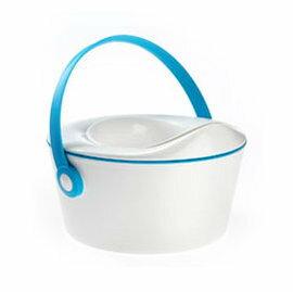 【淘氣寶寶*獨家加贈Sassy拋棄式馬桶墊(8入),送完為止】比利時Odot.BabyDot.Pot三合一幼兒學習便盆組-晴空藍