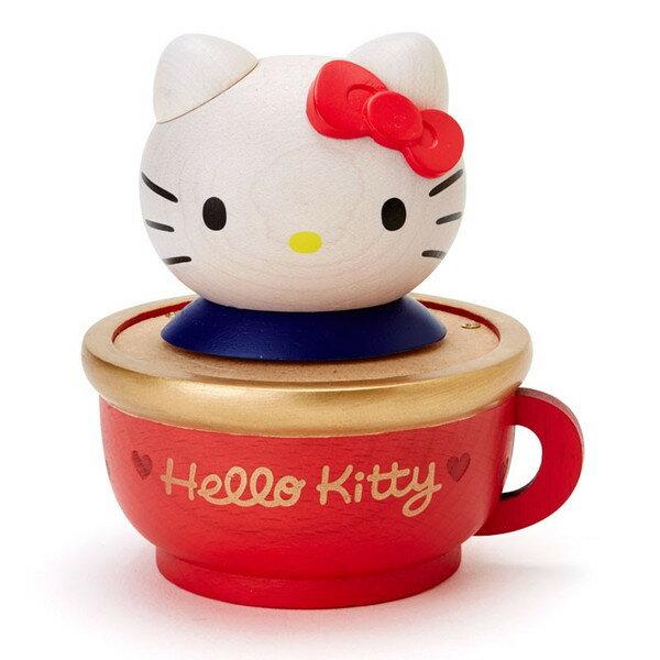 【真愛日本】15120200005音樂杯-KT紅結紅  三麗鷗家族 Hello Kitty 凱蒂貓  音樂鈴 旋轉 擺飾 收藏