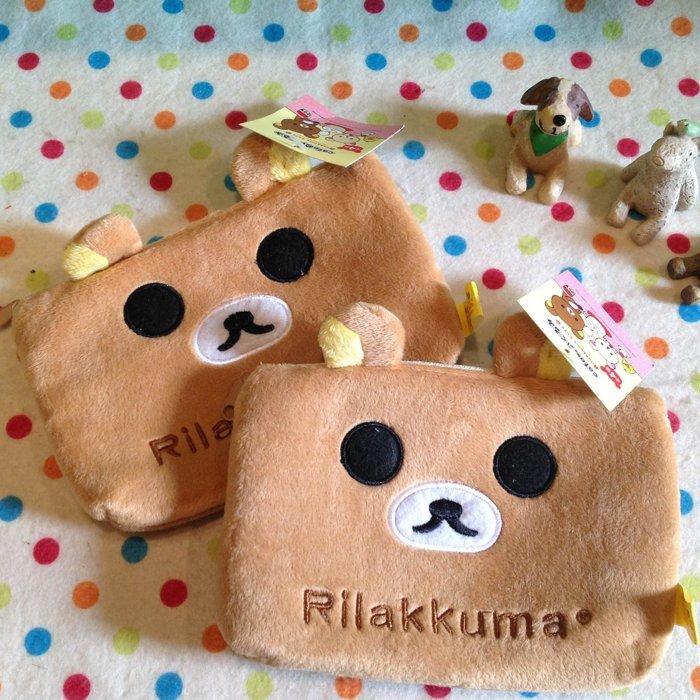=優生活=【現貨現貨】日本拉拉熊 懶懶熊多功能收納袋 三層式筆袋 化妝包 大容量筆袋 可愛筆盒