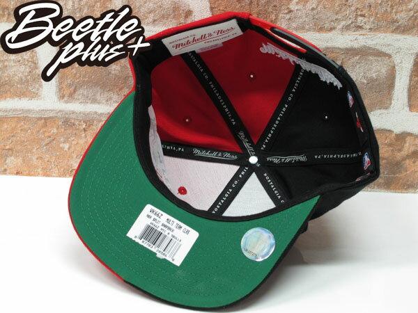 BEETLE MITCHELL&NESS NBA BULLS 芝加哥 公牛 黑紅 雙色 半剖 SNAPBACK 後扣帽 2