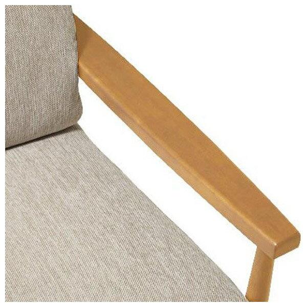 ◎(OUTLET)布質3人用沙發 HILL2 BE / LBR 福利品 NITORI宜得利家居 3