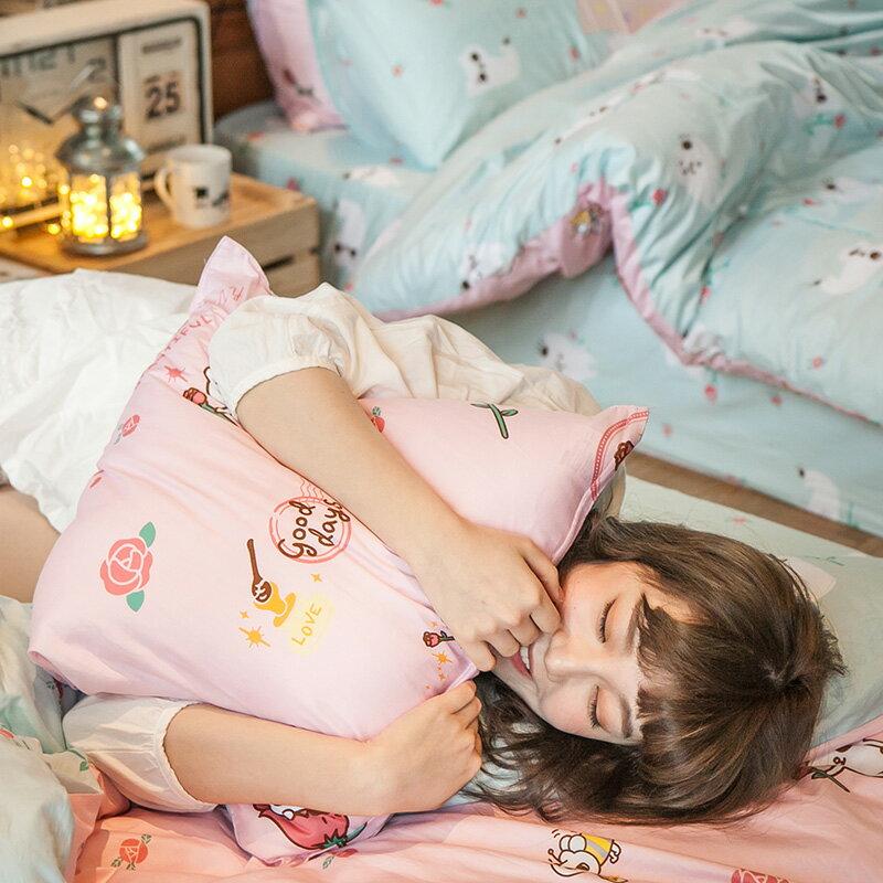抱枕~100%精梳棉~粉紅戀愛款~爽爽貓的熱戀~方型抱枕50X50CM,戀家小舖, 製
