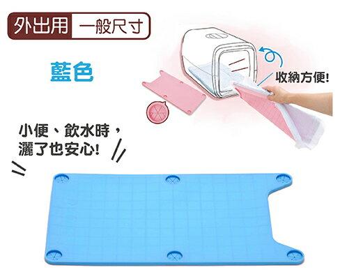 日本Tarky專利攜帶型外出用矽膠便盆-專利矽膠便盆-藍色一般尺寸