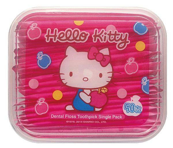 【晨光】台灣製 Hello Kitty超韌牙線棒 單支攜帶型 (103139)【現貨】