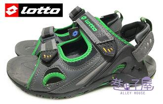 【巷子屋】義大利第一品牌-LOTTO樂得 男款野趣戶外兩穿式運動涼鞋 拖鞋 [2295] 灰綠 超值價$398