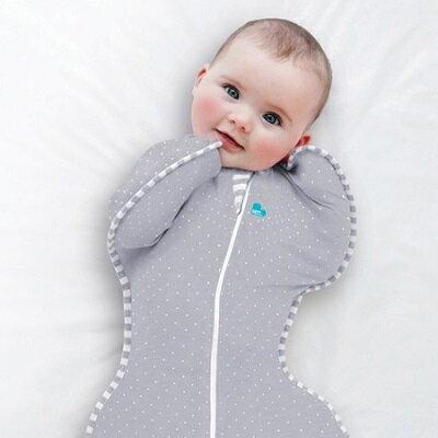Love To Dream SWADDLE UP 蝶型包巾 Stage1(0歲~6個月)新生兒包覆款★輕薄★-灰色