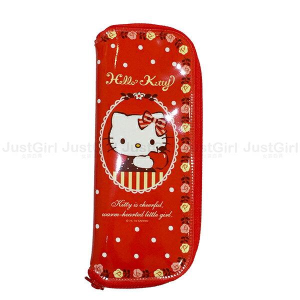 Hello Kitty 餐具收納袋 餐具袋 LILFANT 防水 餐具 正版韓國製造進口 JustGirl
