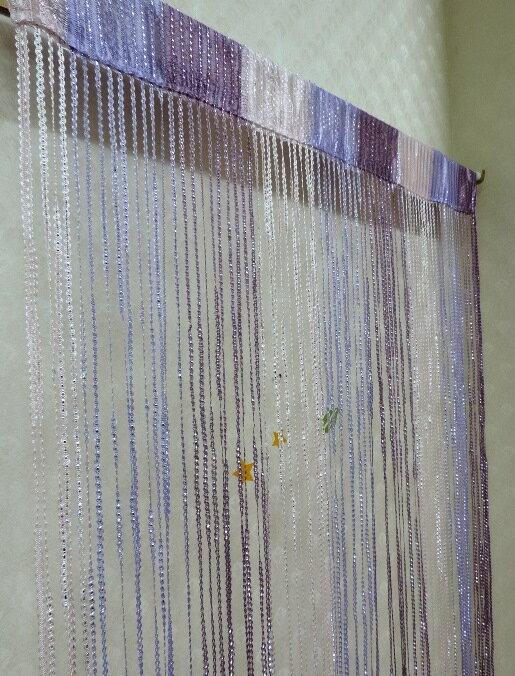 ◤彩虹森林◥《紫色》銀蔥線簾 混色線簾 雙色線簾 造型門簾 玄關簾 長簾 伸縮桿