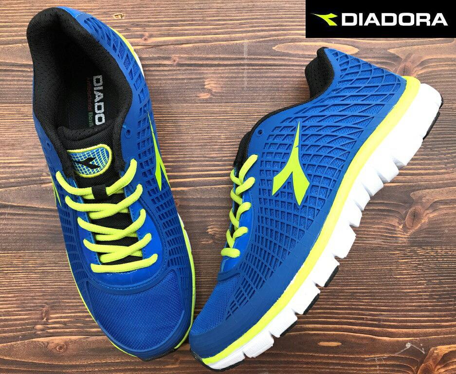 【剪標品出清-25.5號】義大利國寶鞋-DIADORA迪亞多納 男款KPU輕量運動慢跑鞋