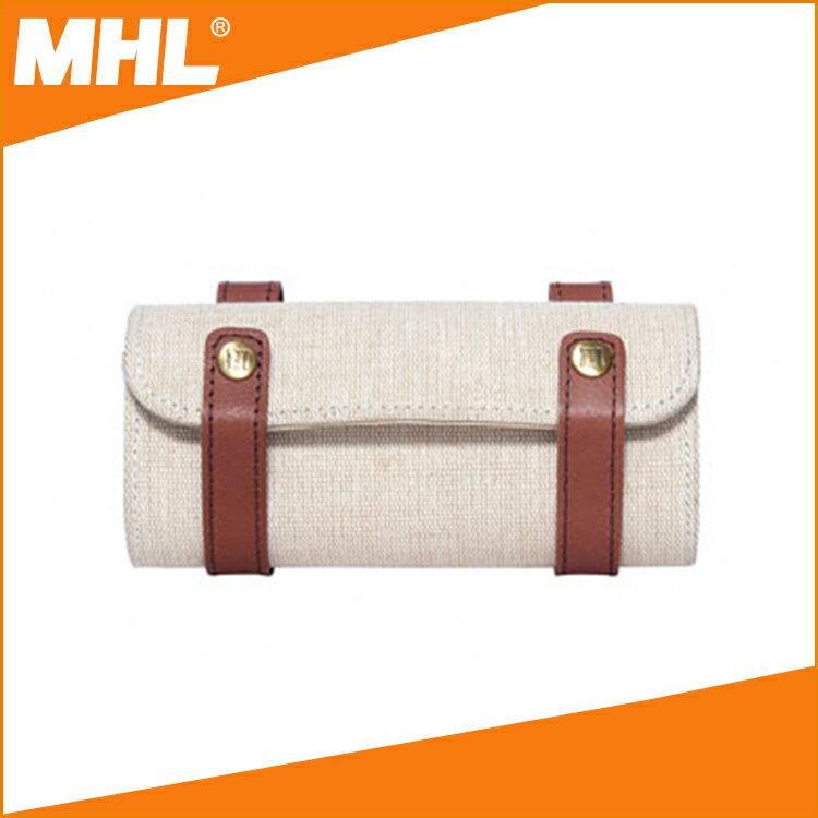 MHL B-77 寶特瓶抽紗自行車坐墊包 (皮革、寶特瓶抽紗、黃麻)