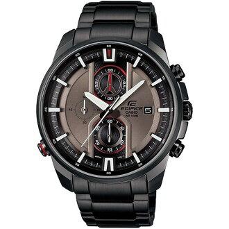 CASIO EDIFICE EFR-533BK-8頂尖科技流行腕錶/茶色面44.6mm
