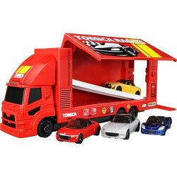 TOMICA多美小車賽車運輸車(內含一台運輸車及四台小車) 761元