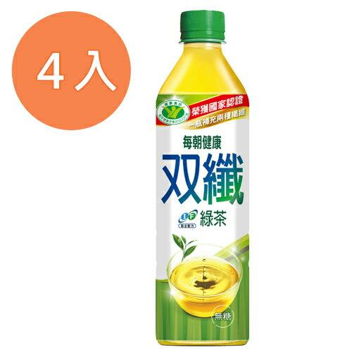 每朝健康 雙纖綠茶 650ml (4入)/組