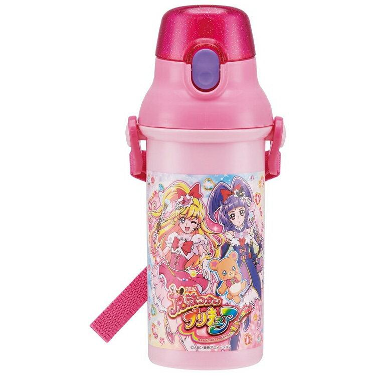 日本製SKATER魔法使 光之美少女塑膠水壺 彈蓋直飲運動水壺 冷水壺 480ML 日本進口正版 343957