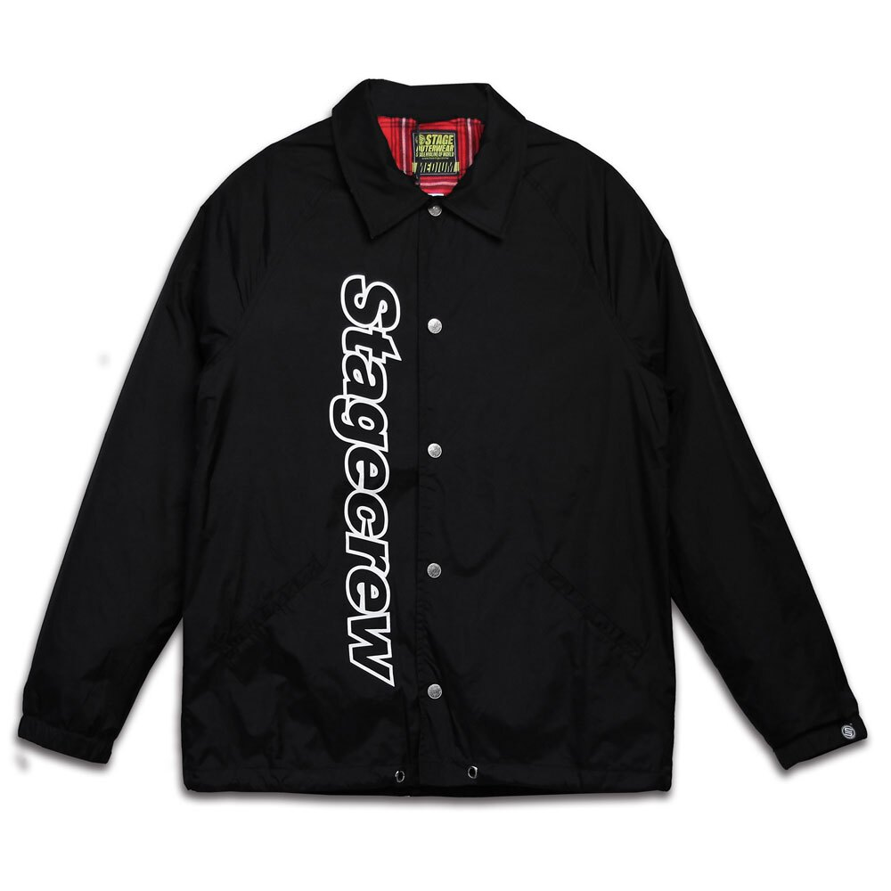 STAGE CREW COACH JACKET 黑色 / 紅色 4