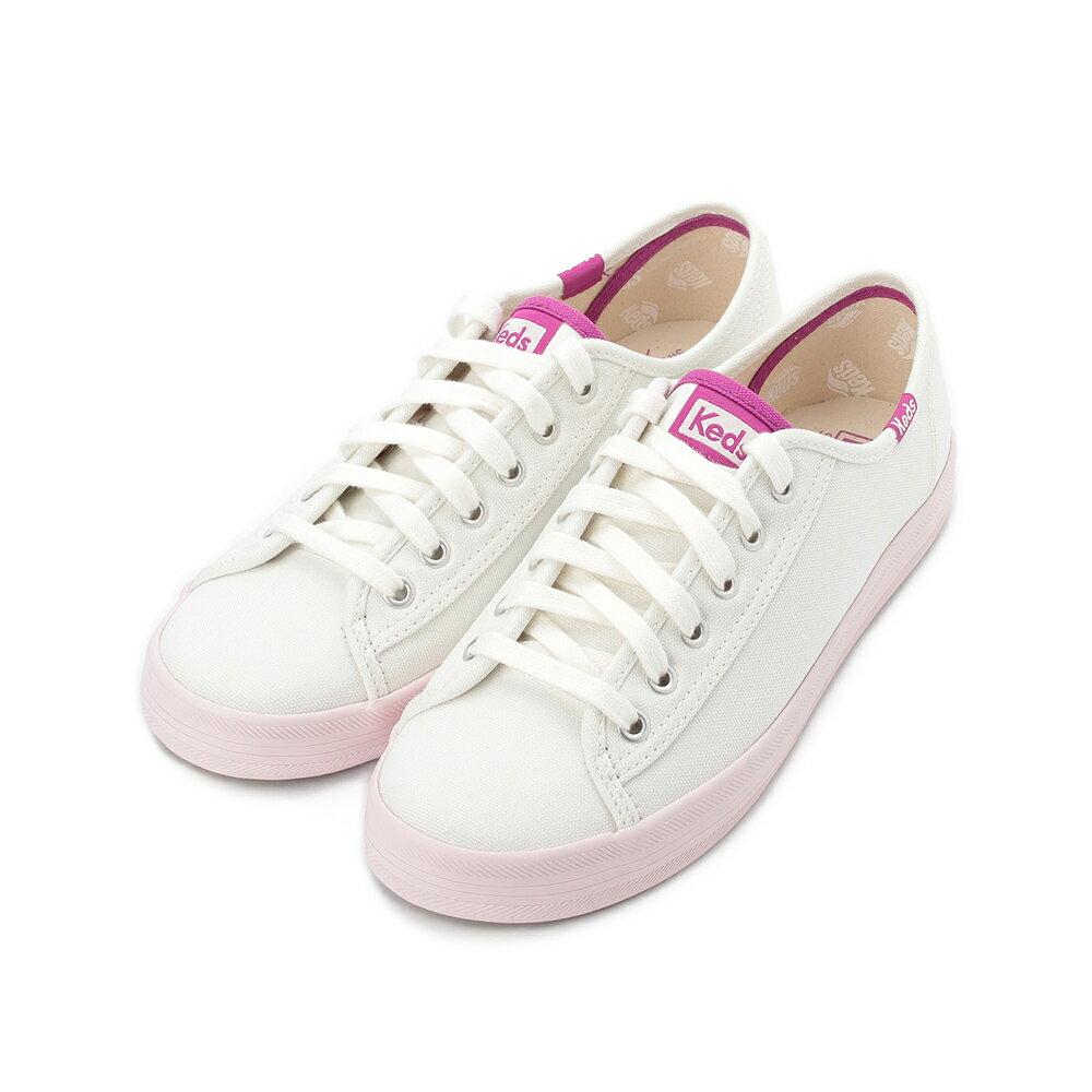 昂路名鞋館 KEDS KICKSTART 清新撞色綁帶休閒鞋 奶油白 9194W122839 女鞋