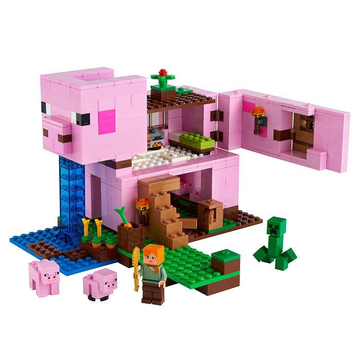 LEGO 樂高 MINECRAFT 創世神 21170 豬小屋 【鯊玩具Toy Shark】